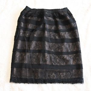 BCBG Jocelyn black lace skirt, XS